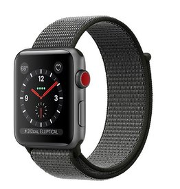 Apple Apple Watch Series 3 GPS + Cellular 42mm Space Grey Aluminium Case with Dark Olive Sport Loop