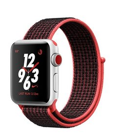 Apple Apple Watch Nike+ GPS + Cellular 38mm Silver Aluminium Case with Bright Crimson/Black Nike Sport Loop