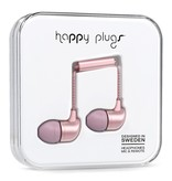 Happy Plugs Happy Plugs Deluxe In-Ear with Remote & Mic - Pink Gold