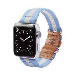TOMS TOMS Apple Watch 42mm Utility Band - Light Blue Stripe