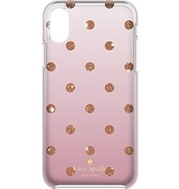 kate spade new york kate spade Hardshell Case for iPhone X - Glitter Dot / Foxglove Ombre