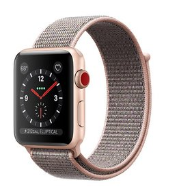 Apple Apple Watch Series 3 GPS + Cellular 42mm Gold Aluminium Case with Pink Sand Sport Loop