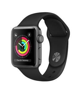 Apple Apple Watch Series 3 GPS 38mm Space Grey Aluminium Case with Black Sport Band