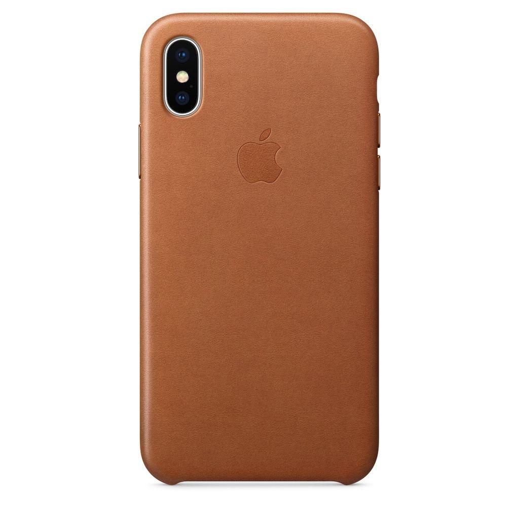 Apple Apple iPhone X Leather Case - Saddle Brown