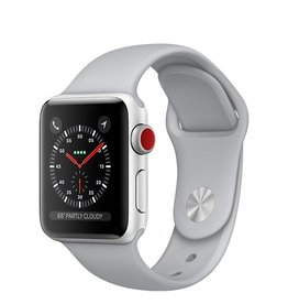 Apple Apple Watch Series 3 GPS + Cellular 38mm Silver Aluminium Case with Fog Sport Band