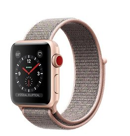Apple Apple Watch Series 3 GPS + Cellular 38mm Gold Aluminium Case with Pink Sand Sport Loop