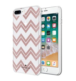 kate spade new york kate spade Hardshell Case for iPhone 8/7/6 Plus - Chevron / Rose Gold Glitter