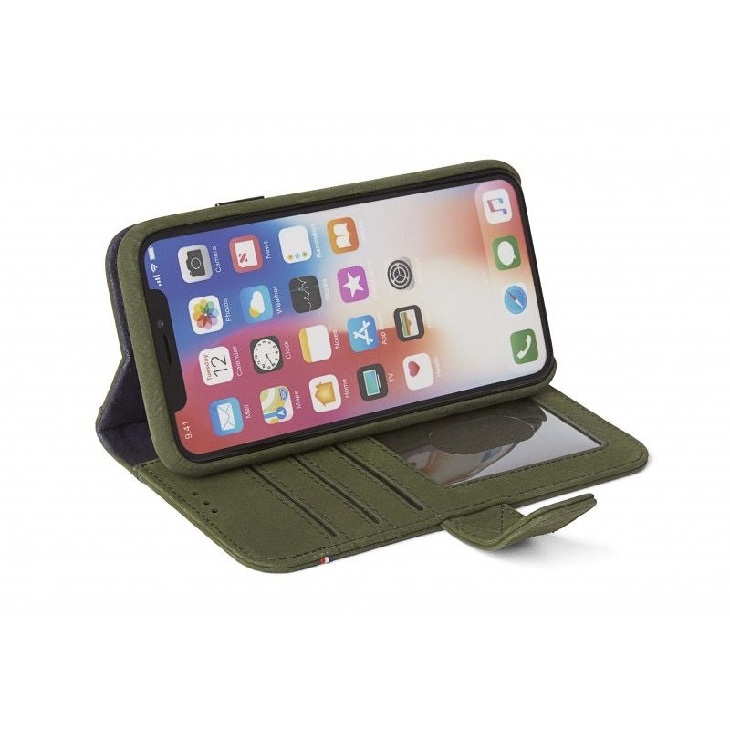 Decoded 2-in-1 Wallet Case for iPhone X - Green