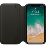 Apple Apple iPhone X Leather Folio - Black