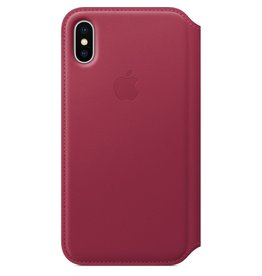 Apple Apple iPhone X Leather Folio - Berry