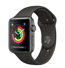 Apple Apple Watch Series 3 GPS 42mm Space Grey Aluminium Case with Grey Sport Band