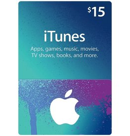 Apple iTunes Gift Card $ 15.00