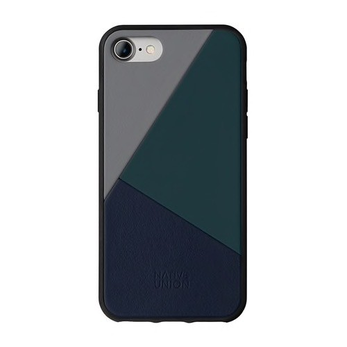 Native Union Native Union Clic Marquetry Case for iPhone 8/7 - Petrol Blue