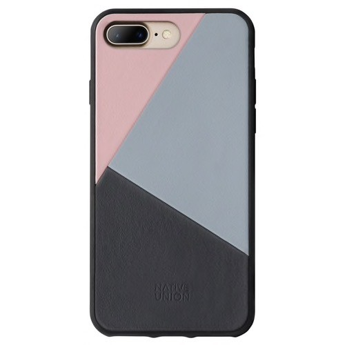 Native Union Native Union Clic Marquetry Case for iPhone 8/7 Plus - Rose / Light Blue