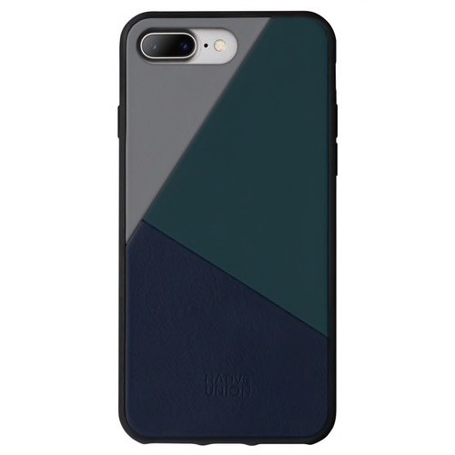 Native Union Native Union Clic Marquetry Case for iPhone 8/7 Plus - Petrol Blue