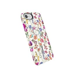 Speck Speck Presidio Inked for iPhone 8/7/6 - White Flowers / Lipstick Pink