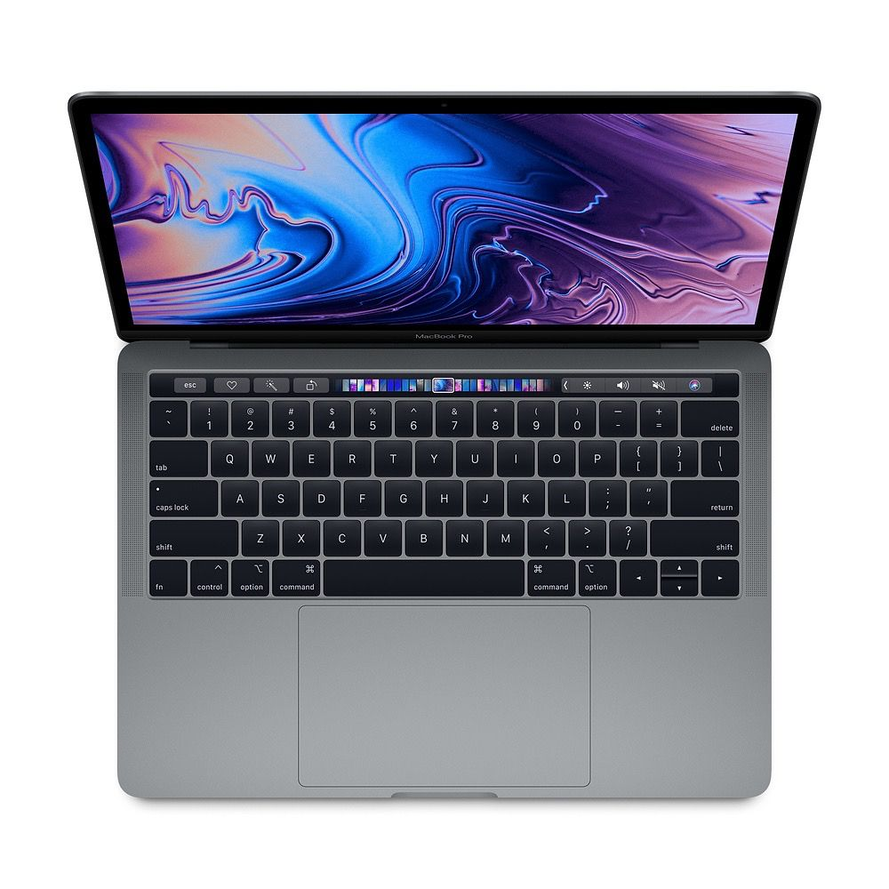Apple 13-inch MacBook Pro with Touch Bar: 2.3GHz quad-core 8th-gen i5, 8GB, 256GB - Space Gray
