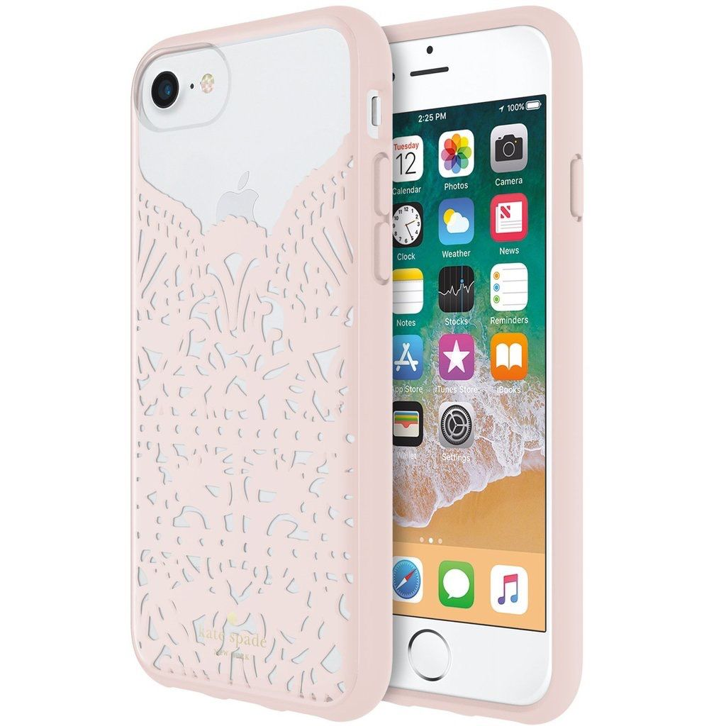 kate spade new york kate spade Hardshell Case for iPhone 8/7/6 - Lace Hummingbird Blush