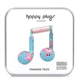 Happy Plugs Happy Plugs Earbud Plus with Remote & Mic - Botanica Exotica