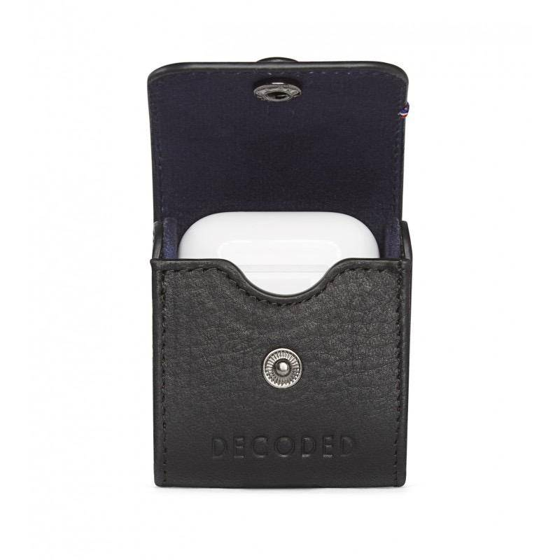 Decoded Leather Case for AirPods - Black