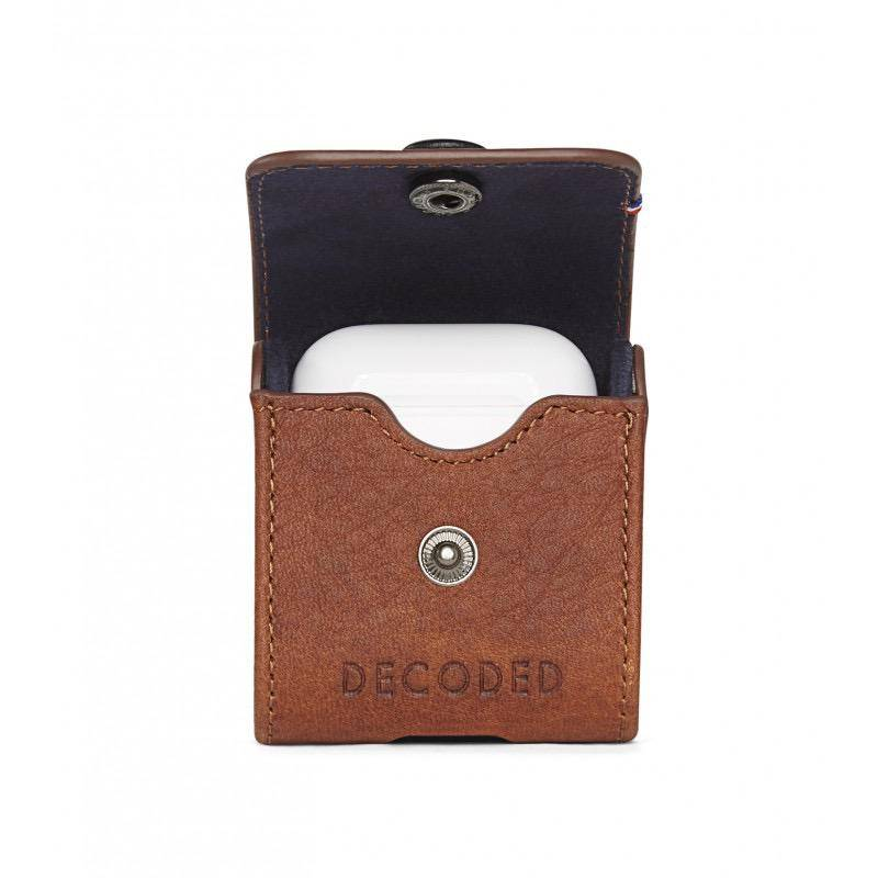 Decoded Leather Case for AirPods - Cinnamon Brown