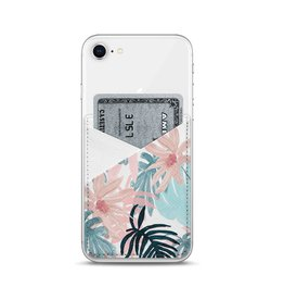 Casetify Casetify Saffiano Leather Card Pocket - Pink Spring