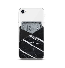 Casetify Casetify Saffiano Leather Card Pocket - Black Marble