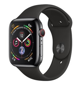 Apple Watch Series 4 GPS + Cellular, 44mm Space Black Stainless Steel Case with Black Sport Band Deposit (Non-refundable)