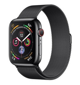 Apple Watch Series 4 GPS + Cellular, 44mm Space Black Stainless Steel Case with Space Black Milanese Loop Deposit (Non-refundable)