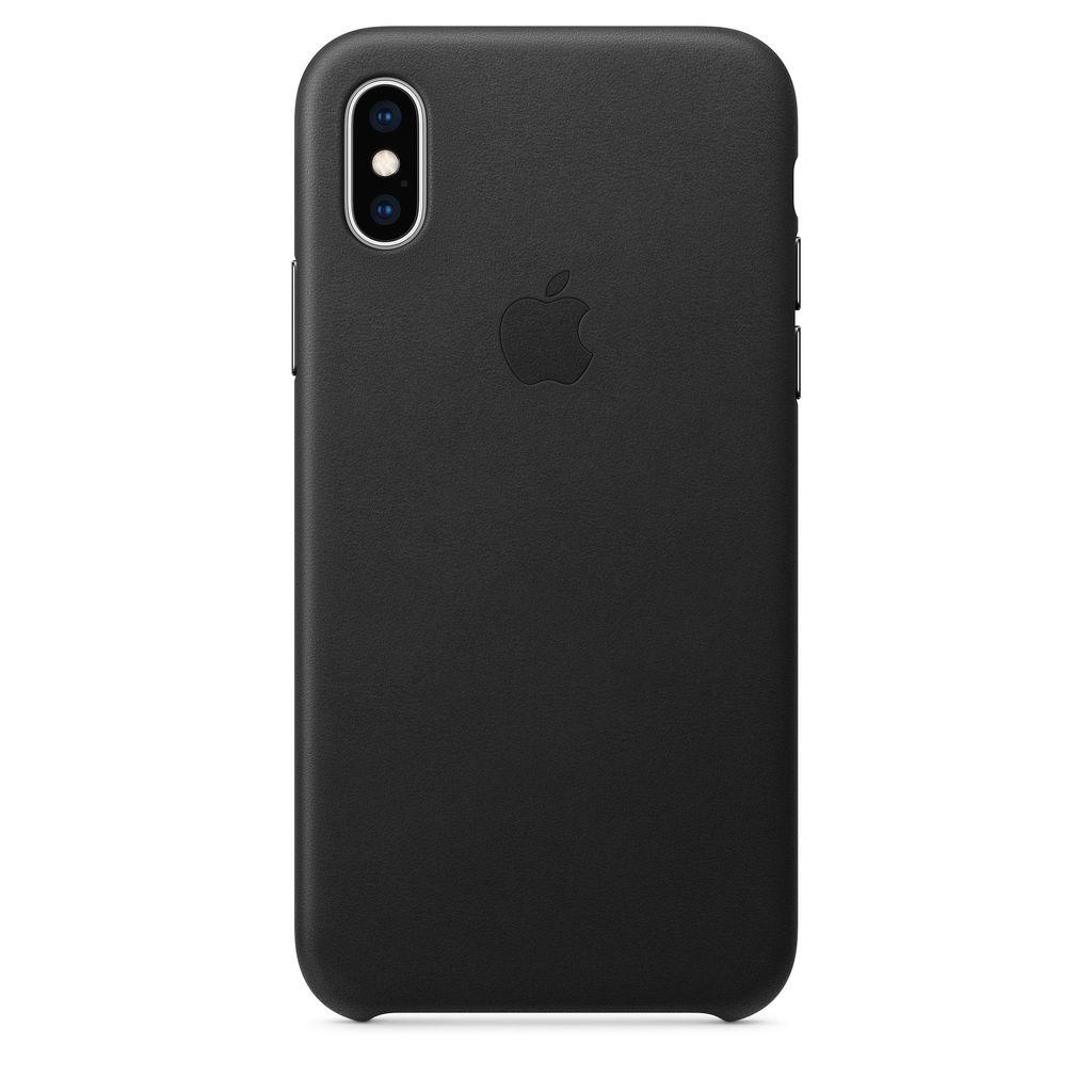 Apple Apple iPhone XS Leather Case - Black