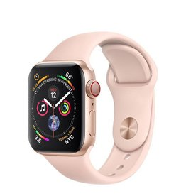 Apple Apple Watch Series 4 GPS + Cellular, 40mm Gold Aluminium Case with Pink Sand Sport Band