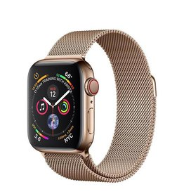 Apple Apple Watch Series 4 GPS + Cellular, 40mm Gold Stainless Steel Case with Gold Milanese Loop