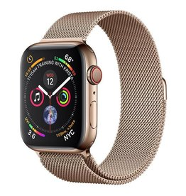 Apple Apple Watch Series 4 GPS + Cellular, 44mm Gold Stainless Steel Case with Gold Milanese Loop