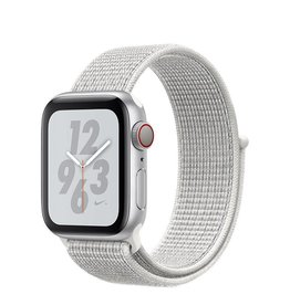 Apple Apple Watch Nike+ Series 4 GPS + Cellular, 40mm Silver Aluminium Case with Summit White Nike Sport Loop