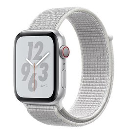 Apple Apple Watch Nike+ Series 4 GPS + Cellular, 44mm Silver Aluminium Case with Summit White Nike Sport Loop