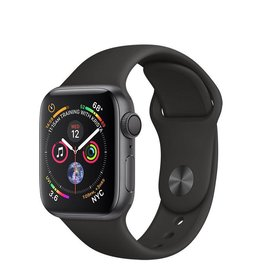 Apple AppleWatch Series4 GPS, 40mm Space Grey Aluminium Case with Black Sport Band