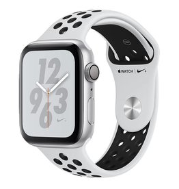 Apple Apple Watch Nike+ Series 4 GPS, 44mm Silver Aluminium Case with Pure Platinum/Black Nike Sport Band