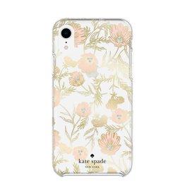 kate spade new york kate spade Hardshell Case for iPhone XR - Blossom Pink/Gold Foil/Gems