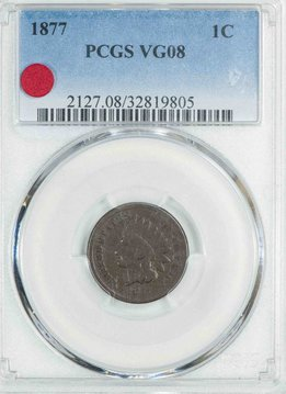 1887 PCGS VG08 Indian Head Cent