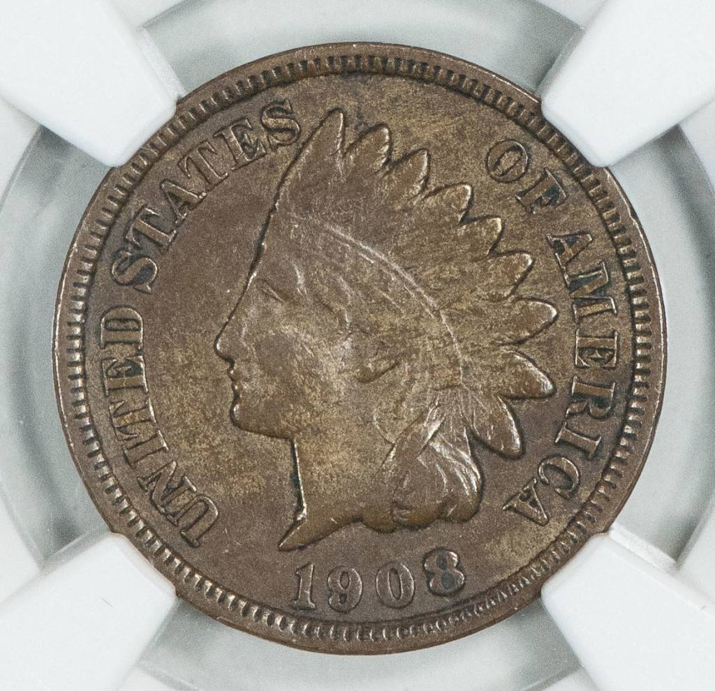 1908 S NGC XF45BN Indian Head Cent