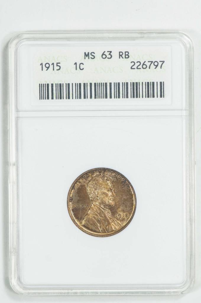 1915 ANACS MS63 RB 1c