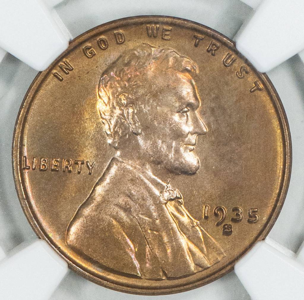 1935 S NGC MS64 RB Lincoln Cent