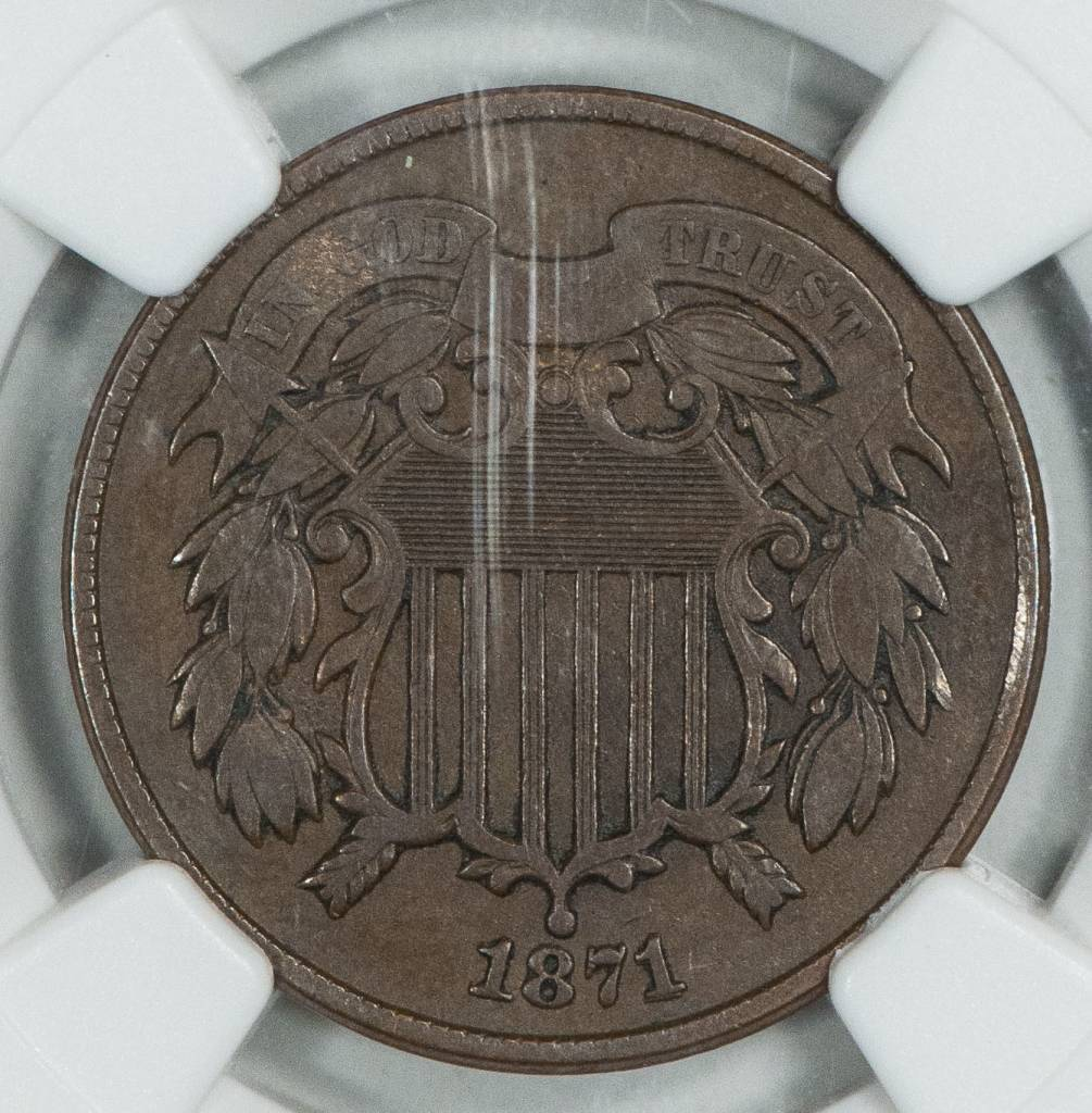 1871 NGC VF30 BN Two Cent