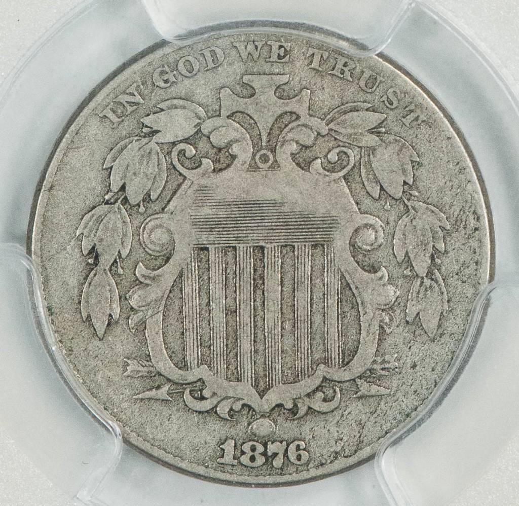 1876 PCGS VF20 Shield Nickel