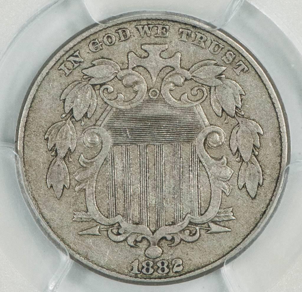 1882 PCGS XF40 Shield Nickel