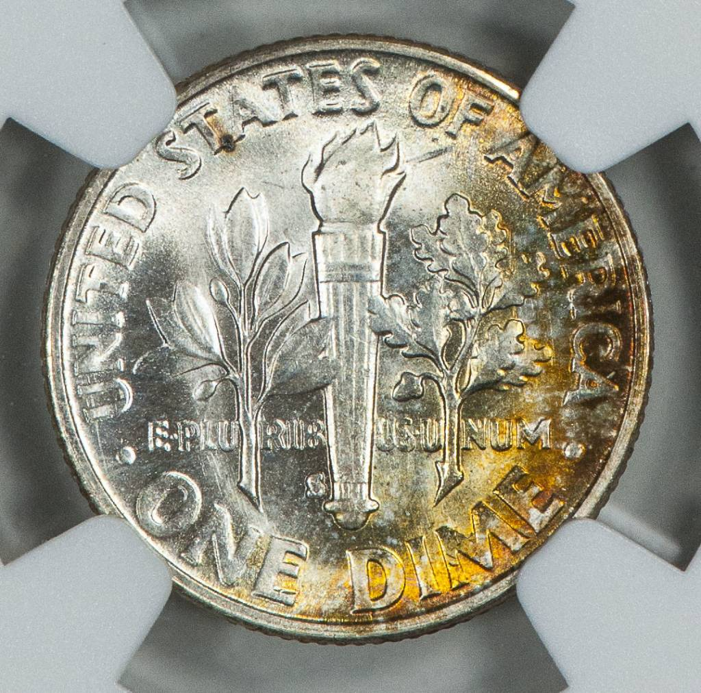 1955 S NGC MS64 Roosevelt Dime