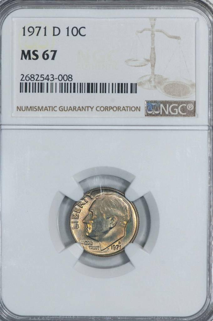 1971 D NGC MS67 Roosevelt Dime
