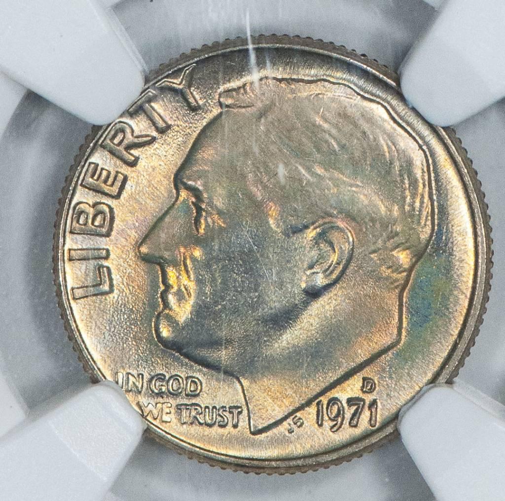 1971 D NGC MS67 Roosevelt Dime