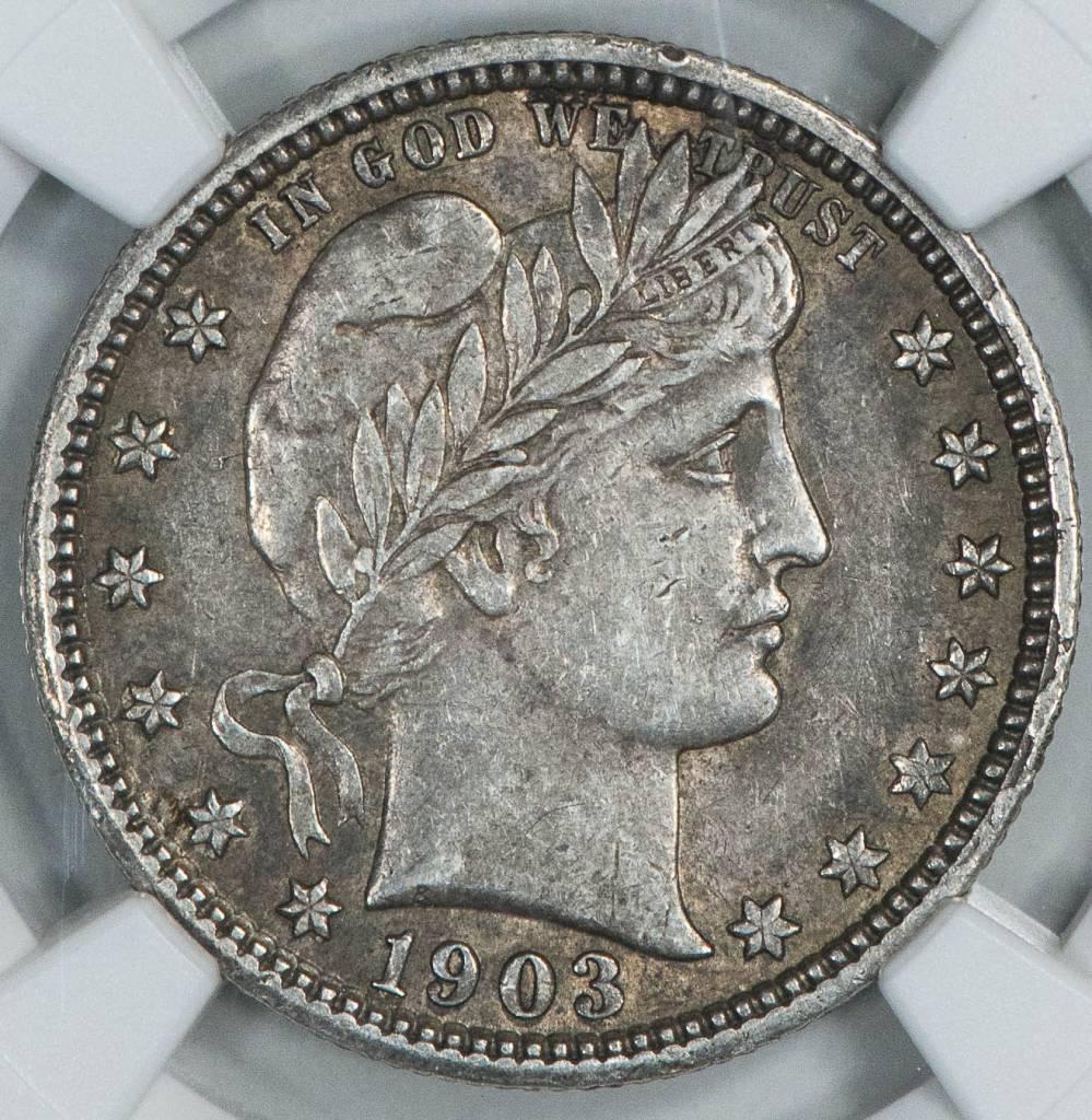 1903 NGC XF45 Barber Quarter