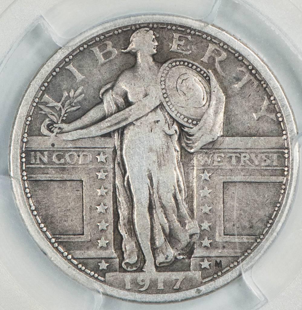 1917 Type 1 PCGS VF20 Standing Liberty Quarter